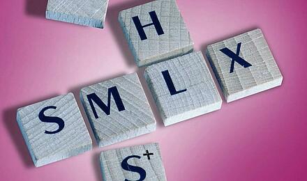 Motiv Buchstaben pink