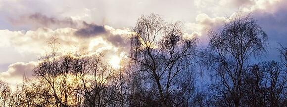 Himmel über Elstal im Februar 2018