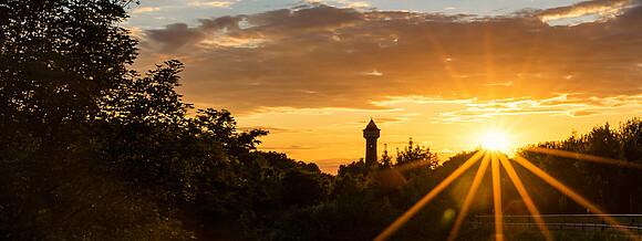 Sonnenuntergang in Elstal