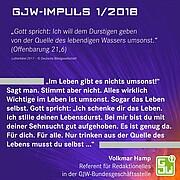 GJW-Impuls zur Jahreslosung 2018